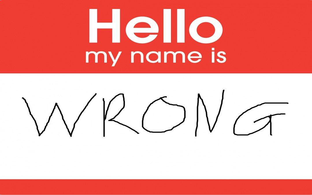 Упражнение: Выкрикнуть неправильное имя